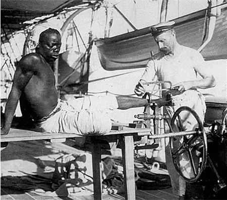 1860 Schiavo sta per essere liberato da un marinaio inglese