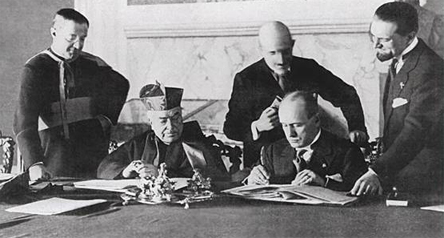 Concordato del 1929 con Mussolini