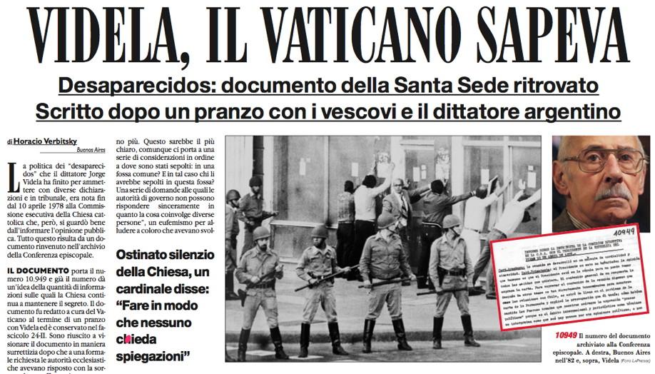 Vaticano sapeva