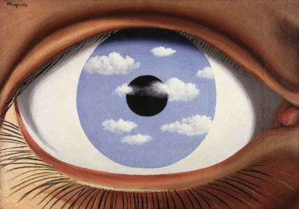 false mirror by magritte