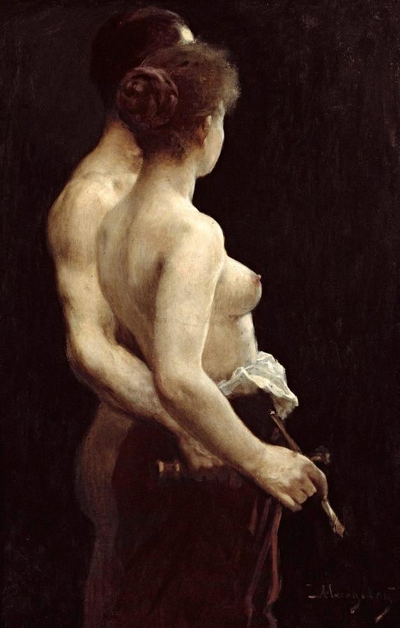 Ci son Poeti che dipingono l'Amore di Catherine la Rose per l'opera di Tihamer von Margitay (1859 -1922)