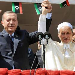 Mustafa Abdel Jalil,  Recep Tayyip Erdogan, Ahmet Davutoglu