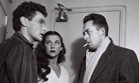 Jean-Louis Barrault, Maria Casares and Albert Camus in Paris, France, October 1948.