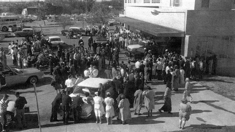 Crowd-At-Parkland-Hospital-November-22-1963
