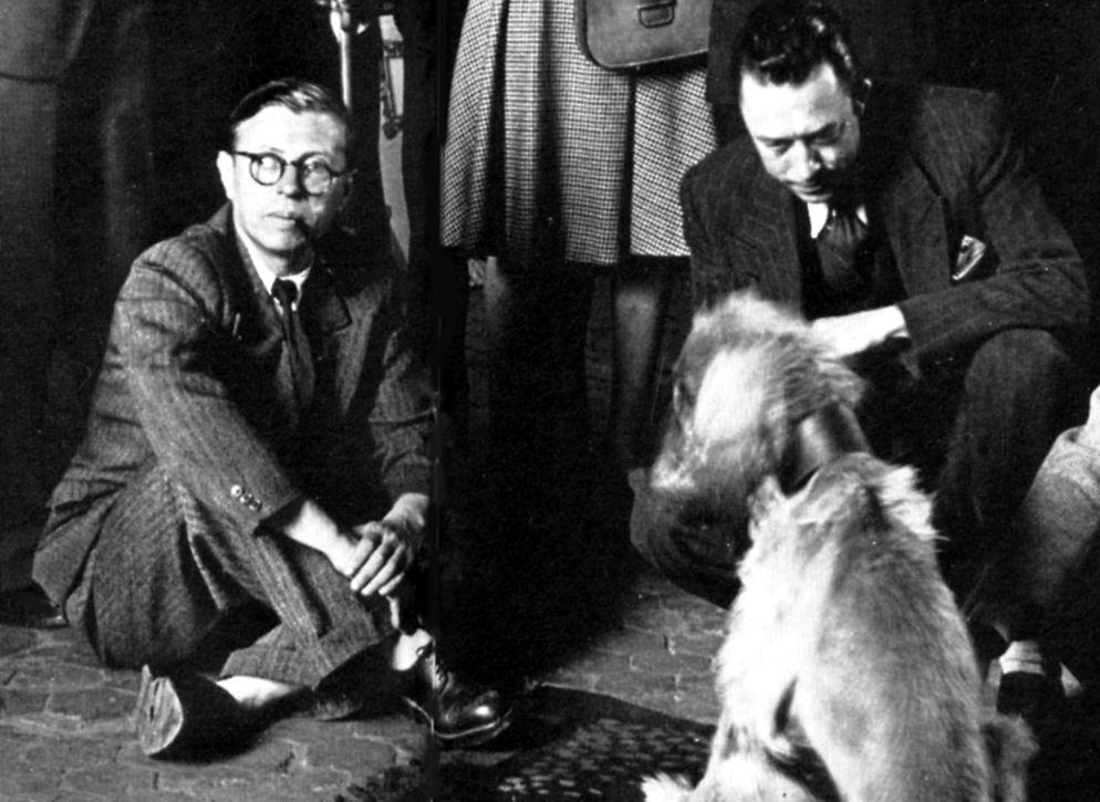 Albert-Camus-junto-Jean-Paul-Sartre