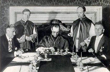 Concordato con il Terzo REICH firmato dal Nunzio apostolico Pacelli futuro Pio XII