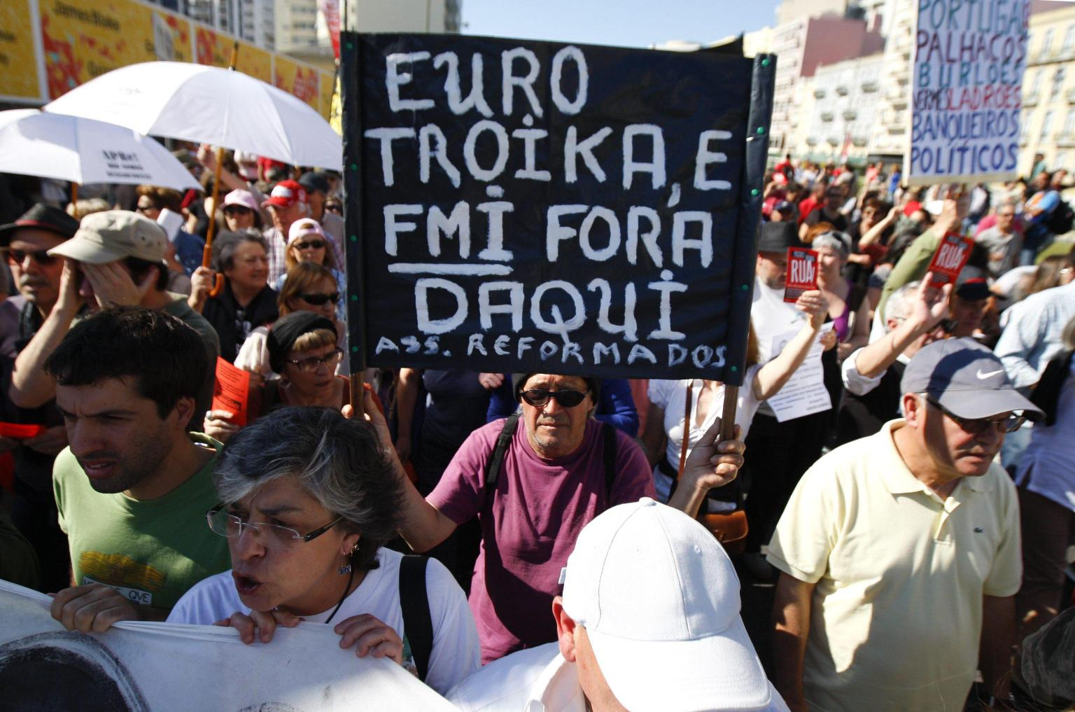 Protest against Troika