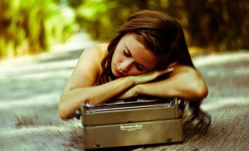 macchina da scrivere dormire