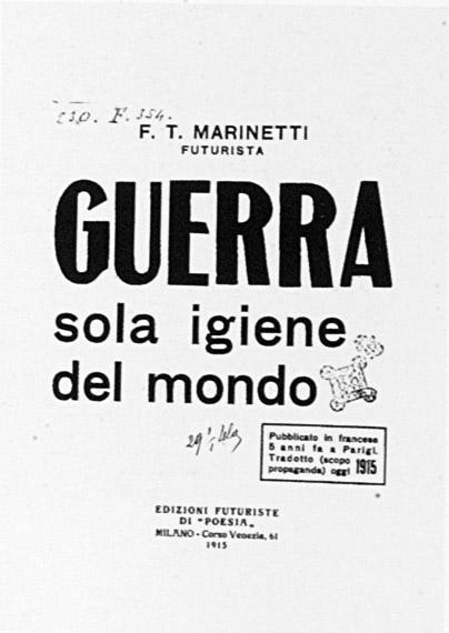 Immagine mostra. Marinetti