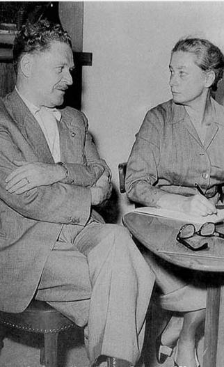 Nazim Hikmet e Joyce Lussu Stoccolma 1958
