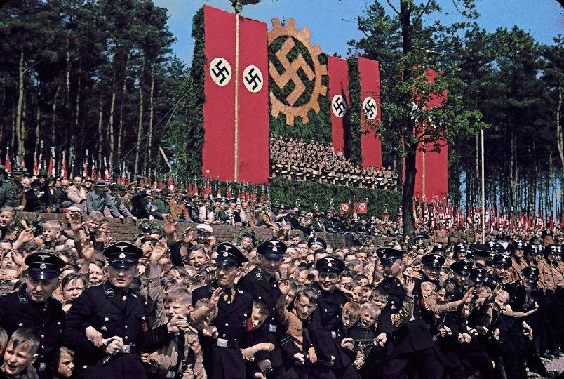 Volkswagen Works cornerstone ceremony, near Wolfsburg, 1938.