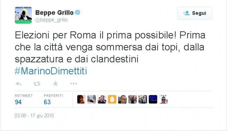 Tweet Grillo clandestini