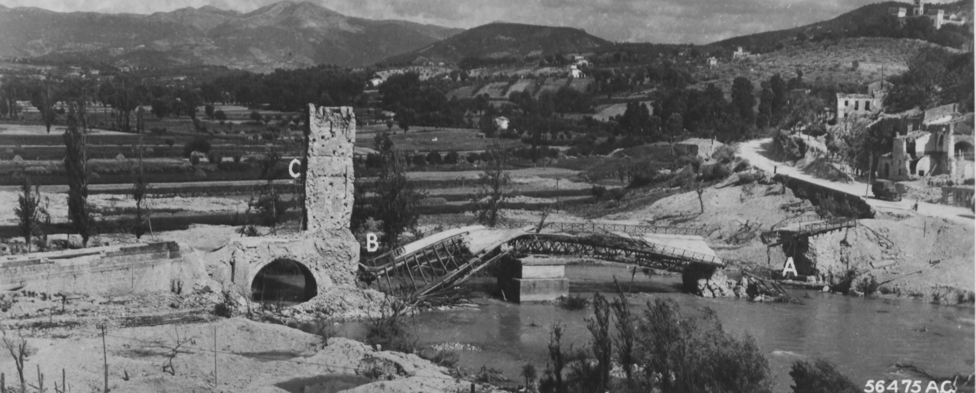 Narni Scalo,passarella bombardata