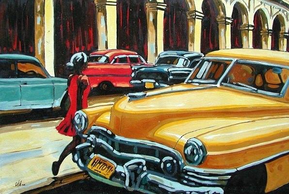 La chica y los carros