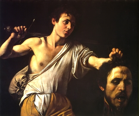 David Showing Goliath's Head by Caravaggio, 1605